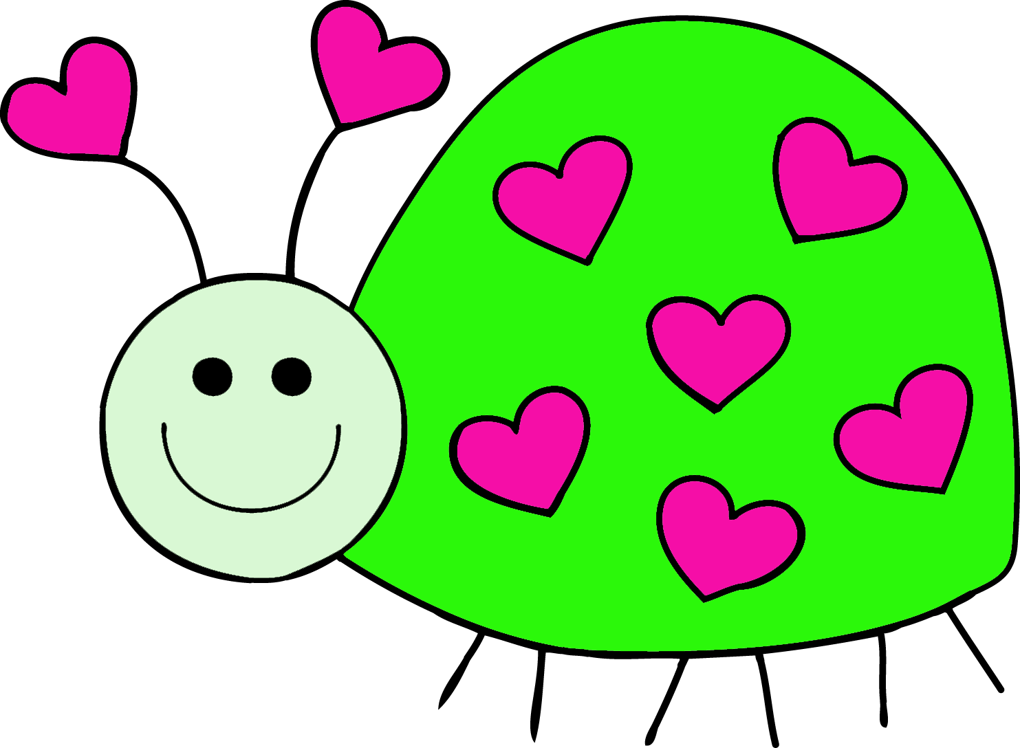 February clipart love bug. Granny goes to school