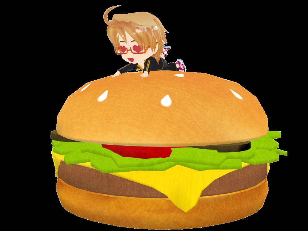 Hamburger clipart american burger. Chibi america b i