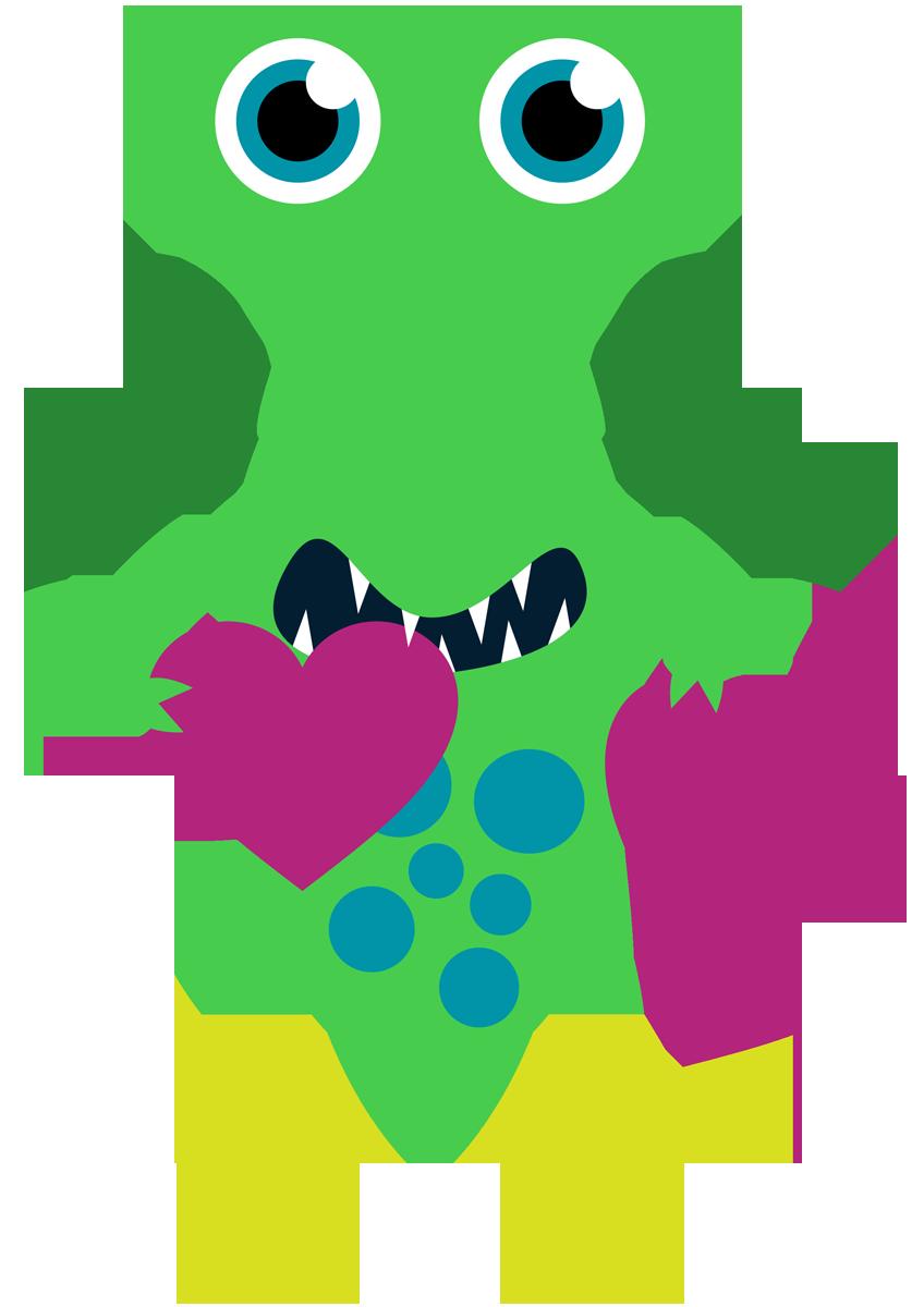 Valentine mu equitos de. Monster clipart monstruo
