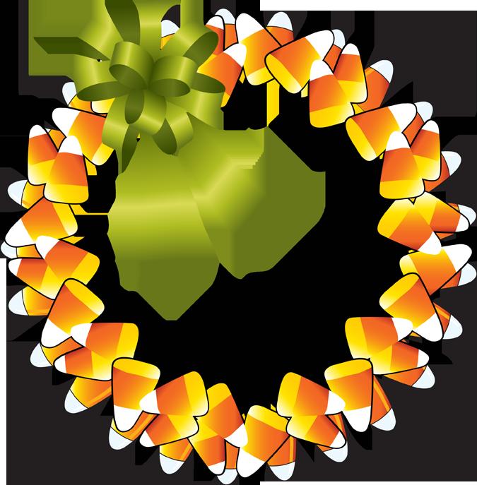 Happy thanksgiving best pinterest. Halloween clipart wreath