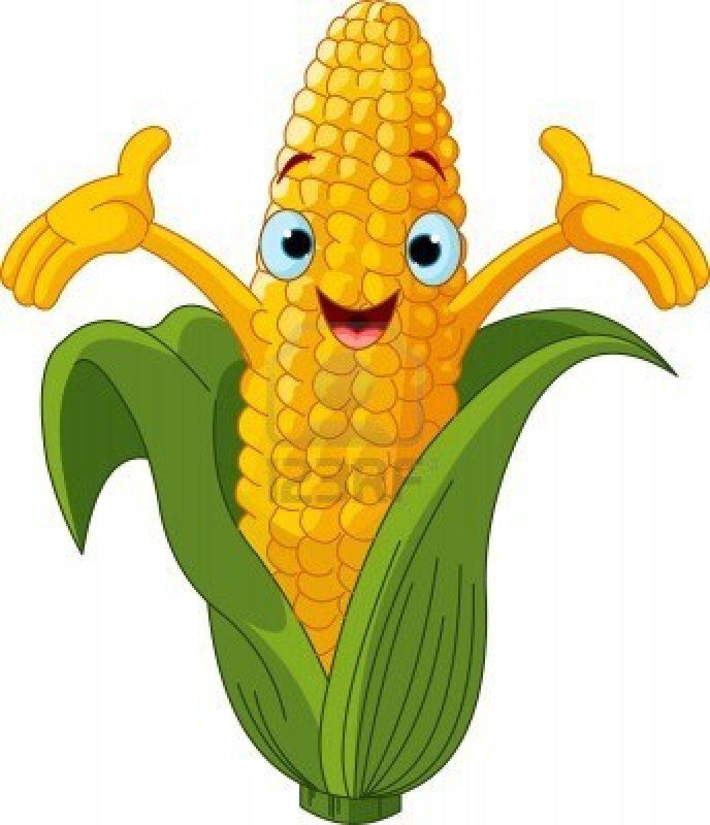 Sad clipart corn. Stock vector cartoon art