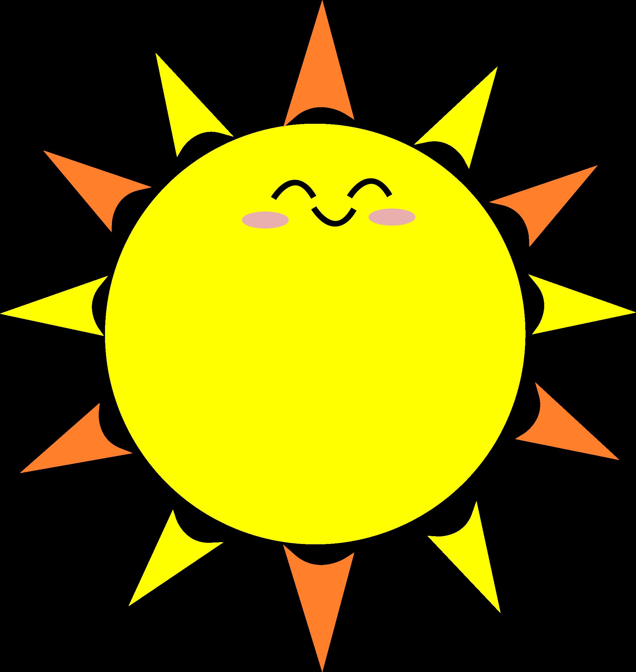 Happy big image png. Cute clipart sun