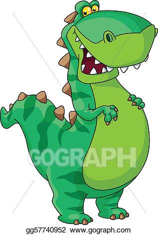 Vector stock dinosaur illustration. Dinosaurs clipart happy