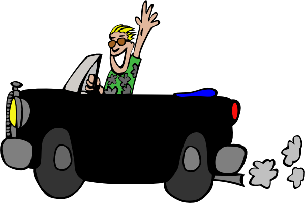Driver clipart happy. Free car driving download