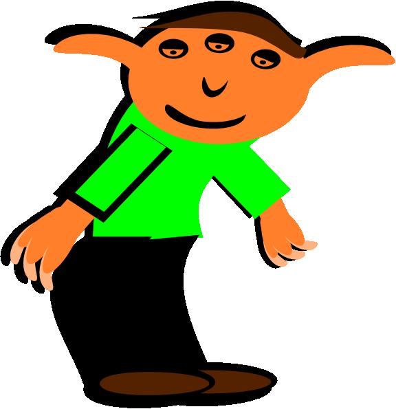 Clipart happy elf. Cartoon clip art at