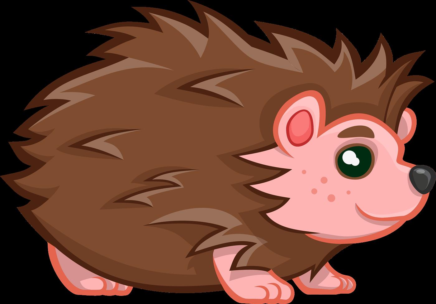 hedgehog clipart kawaii