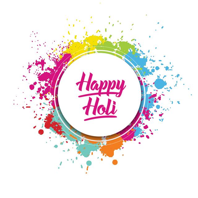 Festival clipart holi. Happy colorful splatter color
