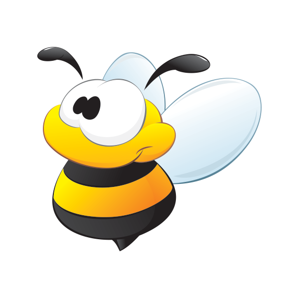 Clipart happy hornet. Printed vinyl baby bee