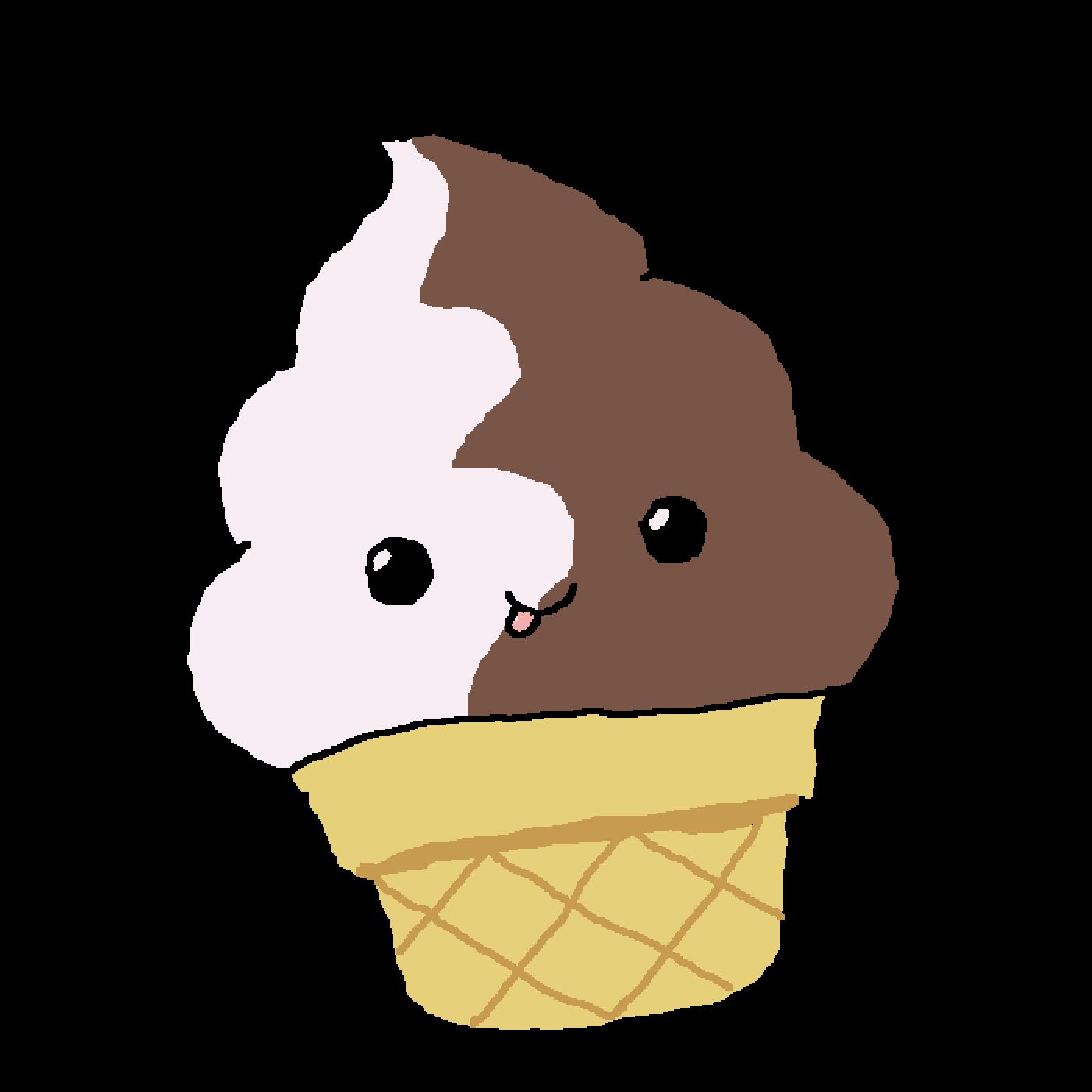 Icecream clipart kawaii. Pixilart happy ice cream