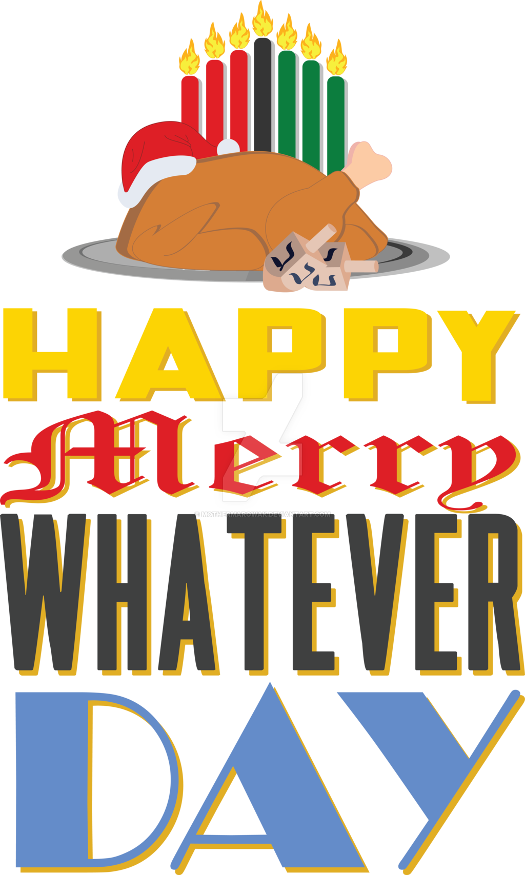 Merry whatever day by. Kwanzaa clipart happy