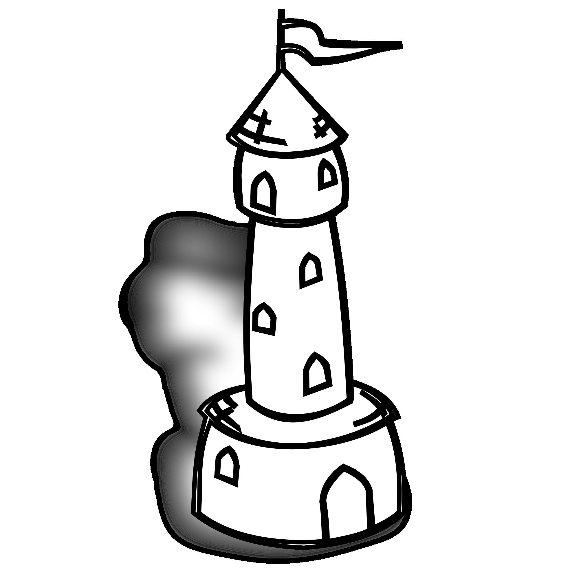 Neighborhood clip art black. Tower clipart watchman