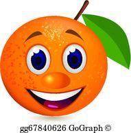 Fruit clip art royalty. Happy clipart orange