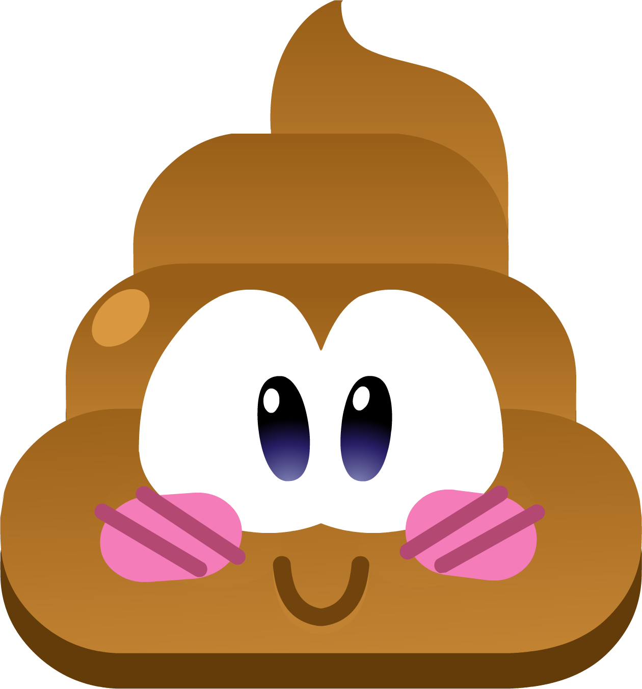 Brown pooping cliparts free. Clipart penguin kawaii