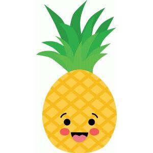 Silhouette design store happy. Pineapple clipart kawaii
