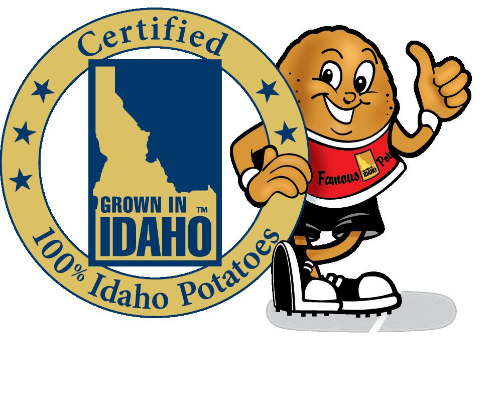 Idaho commission clip art. Potato clipart character