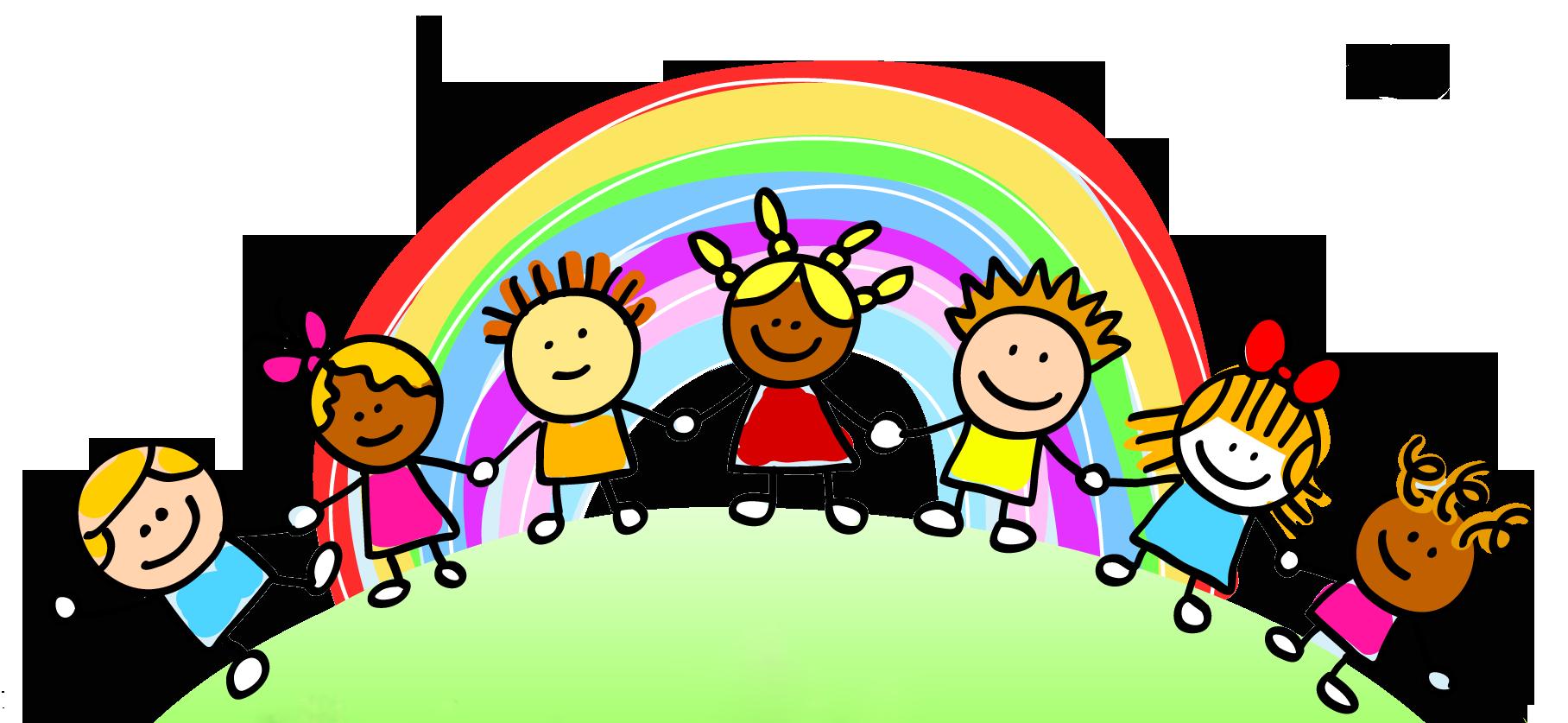 Landscape clipart kindergarten student. Rainbow jokingart com children