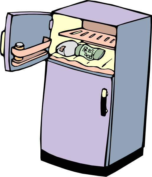 Clip arts for web. Fridge clipart labeled