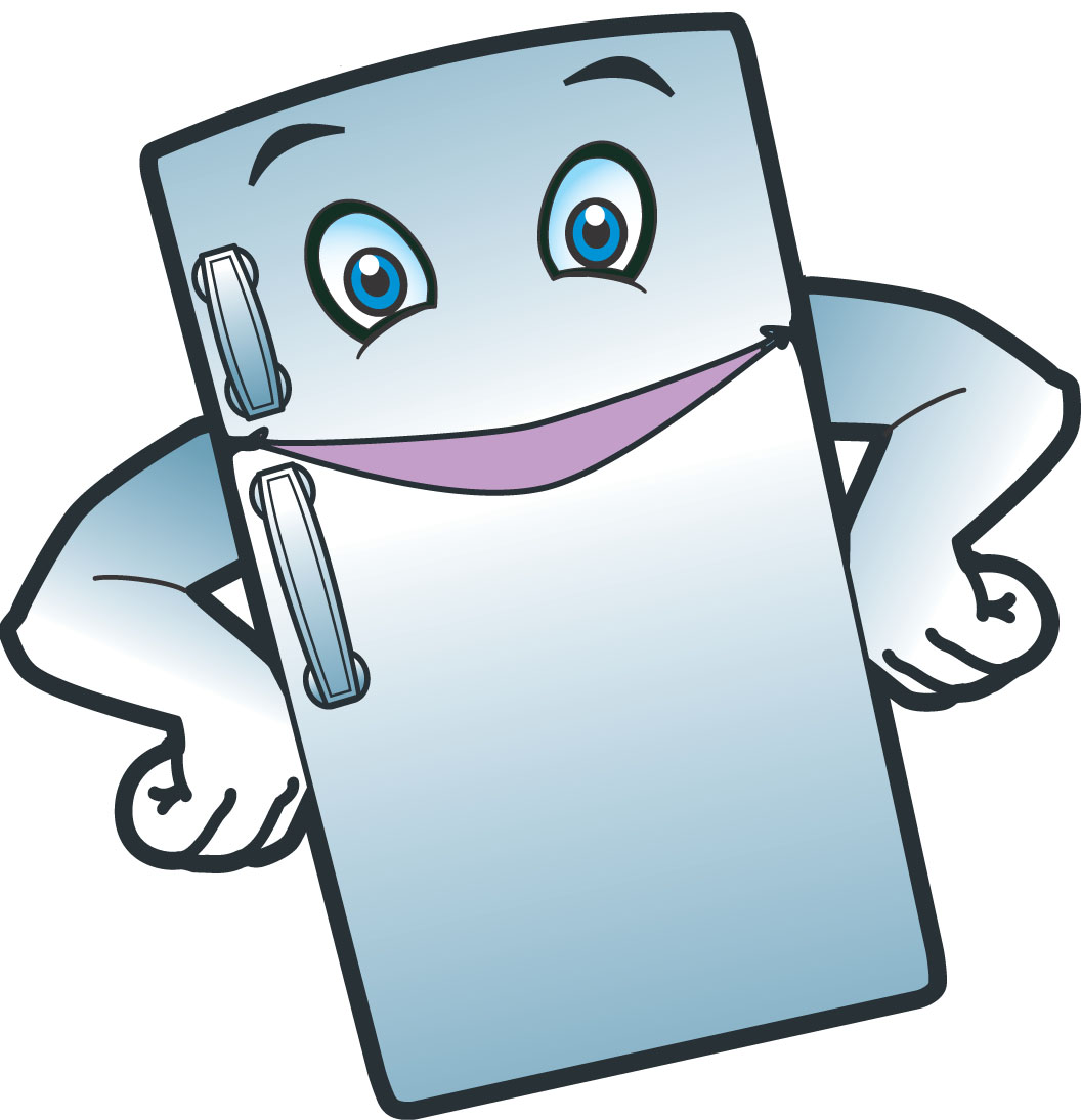 Clip art library . Refrigerator clipart happy