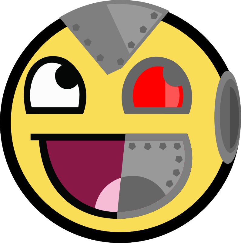 Clipart volleyball emoji. Awesome cyborg robot medium