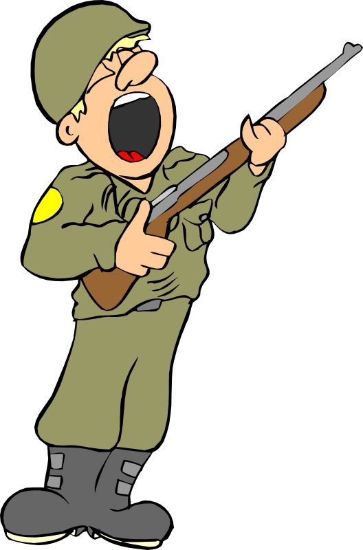 Army clip art pictures. Soldiers clipart crazy