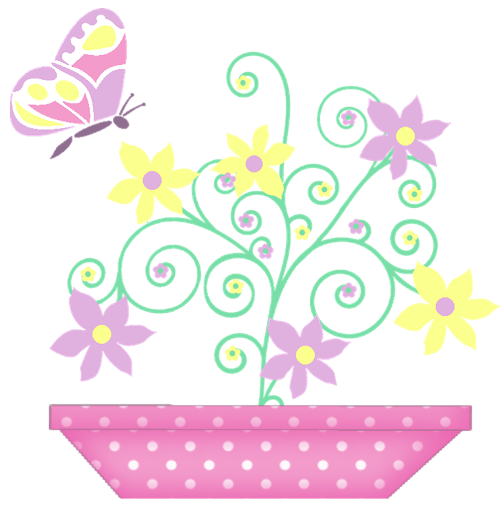 Clipart happy spring. Vaso de fl res