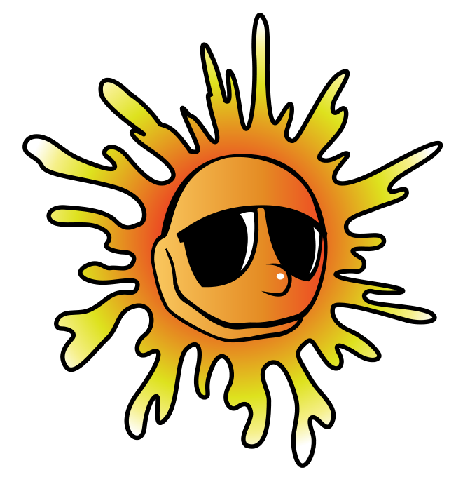 Happy summer panda free. Clipart sun august