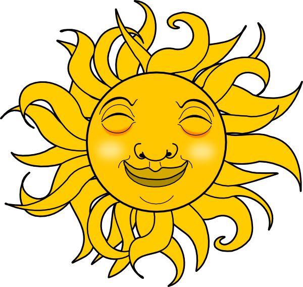 Happy free clip art. Clipart sunshine afternoon