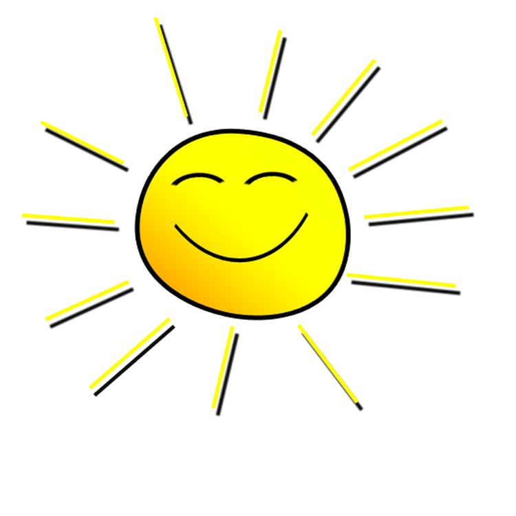 Smiling sunshine . Sunny clipart real