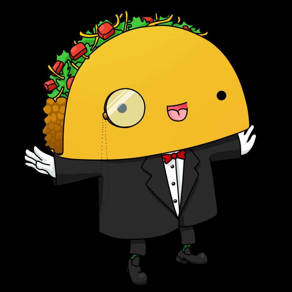 Cartoon taco . Tacos clipart comic