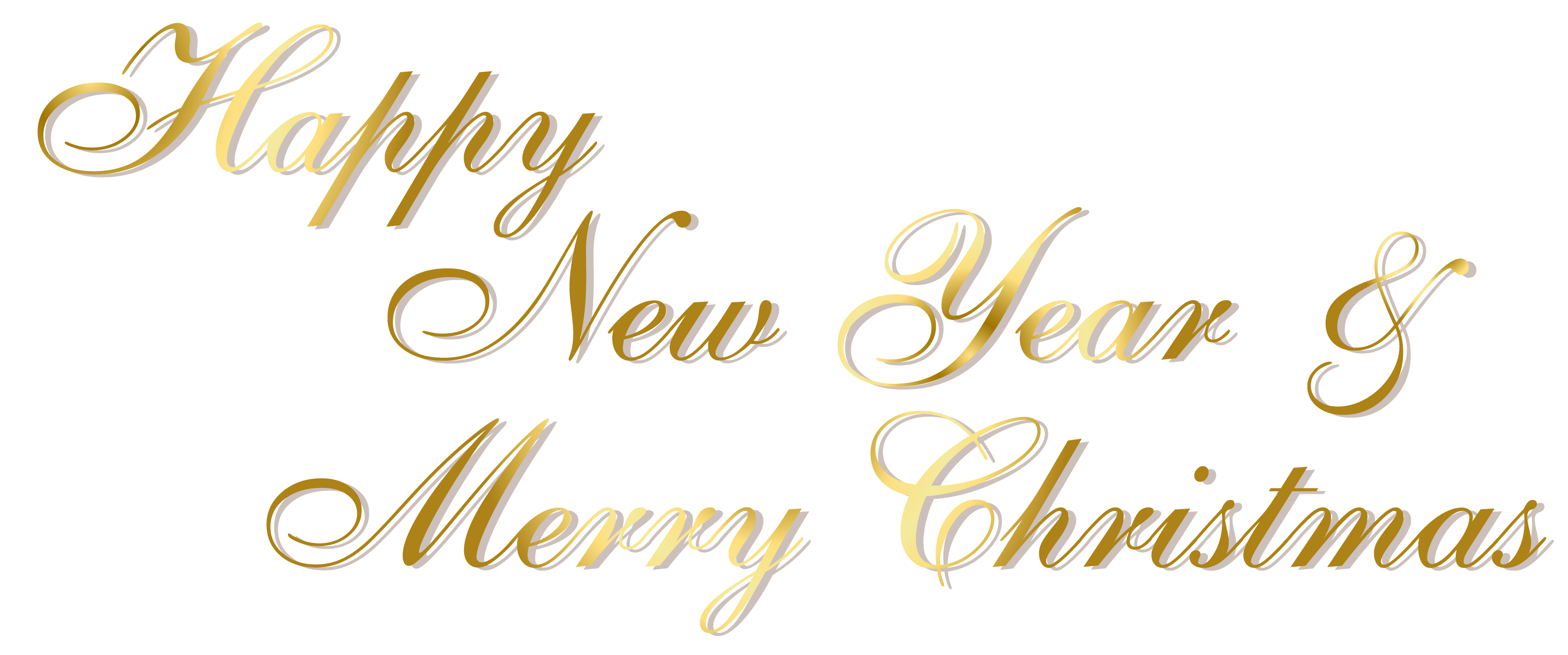 Gold happy and merry. Free clipart new year
