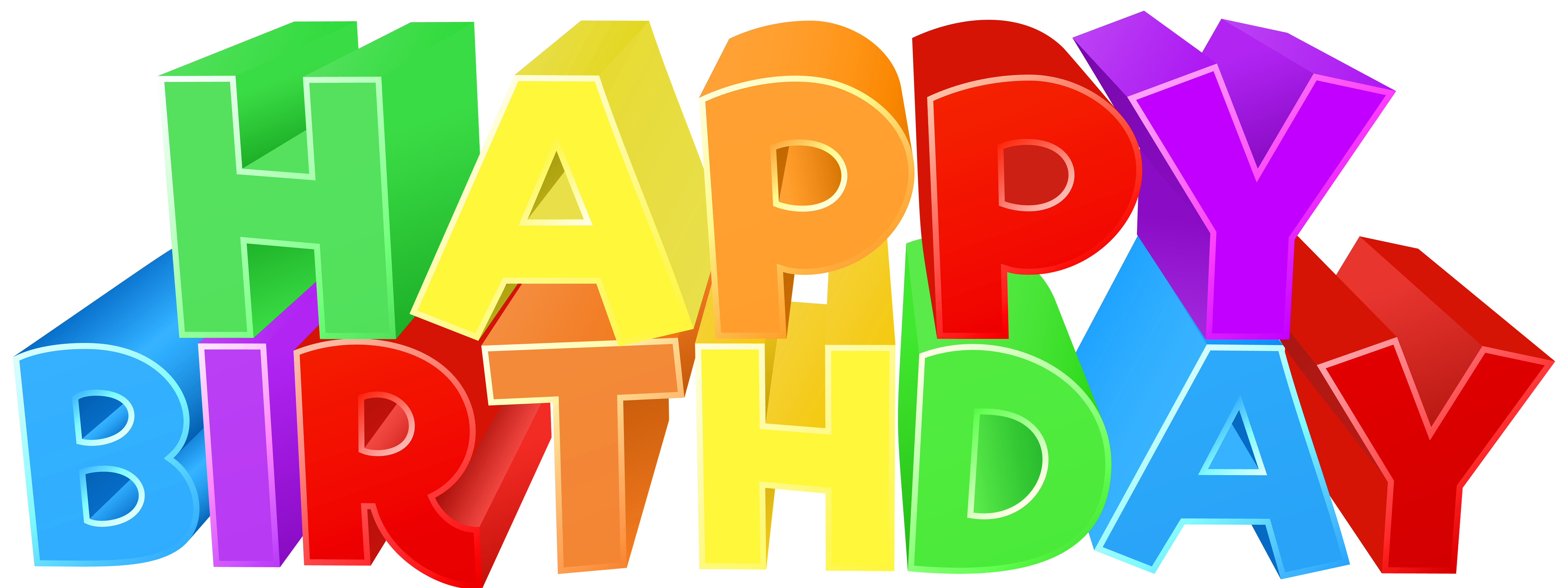 Birthday colorful png clip. Clipart happy text