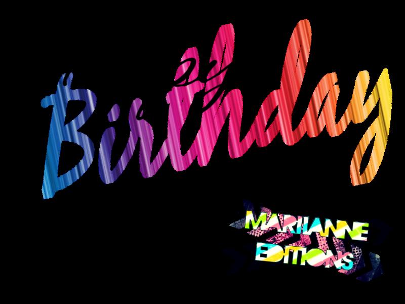 Clipart happy text. Birthday by mariianneeditions on
