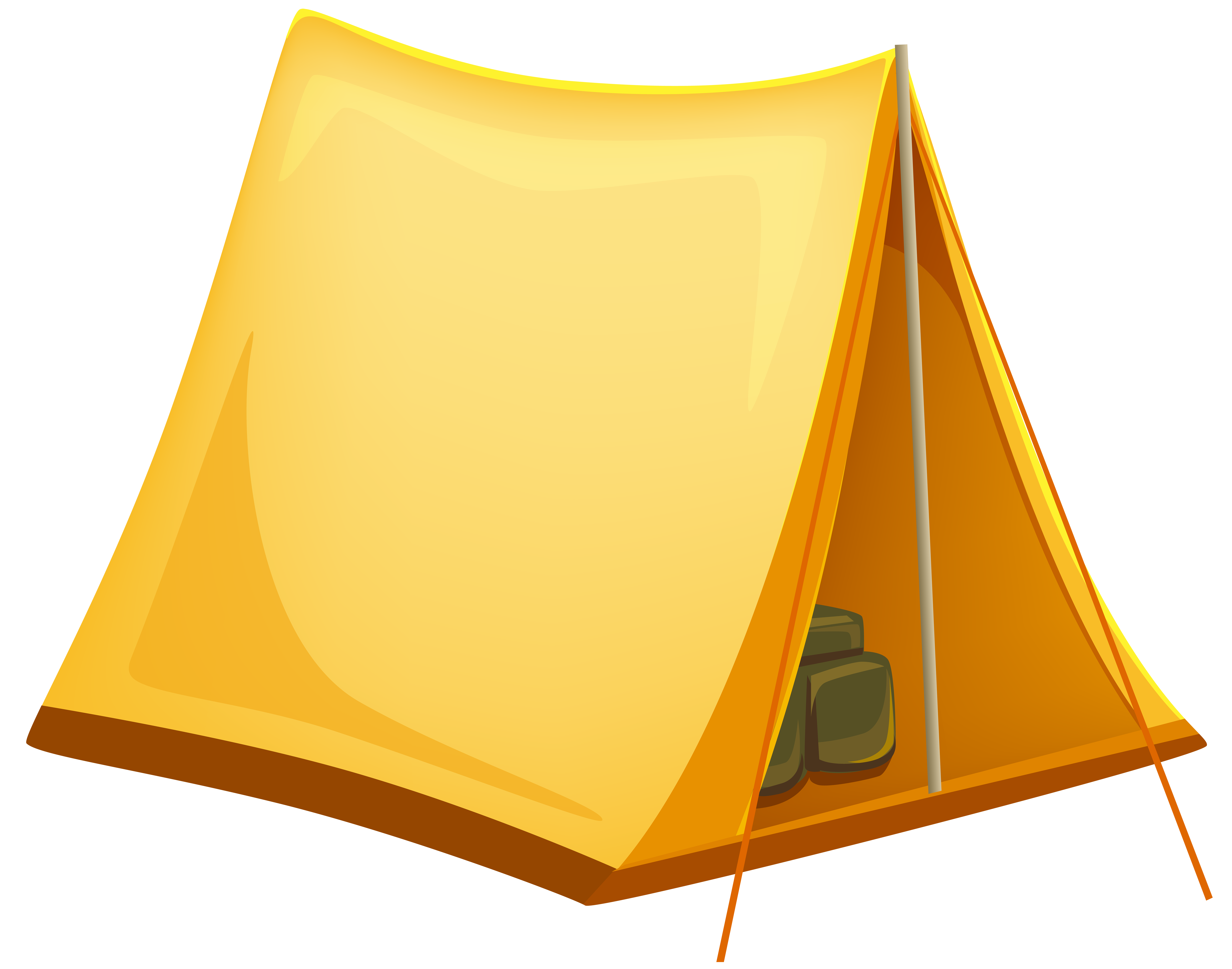 Tent yellow tent