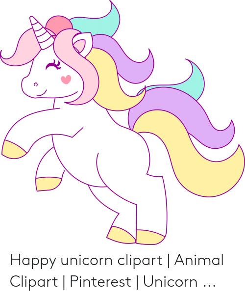 C animal pinterest . Clipart unicorn happy