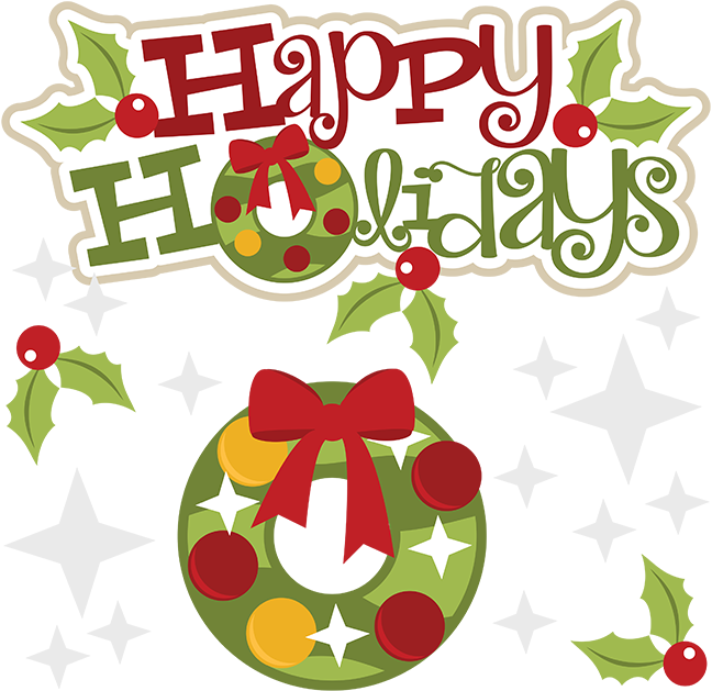 Holly clipart file. Happy holidays at getdrawings