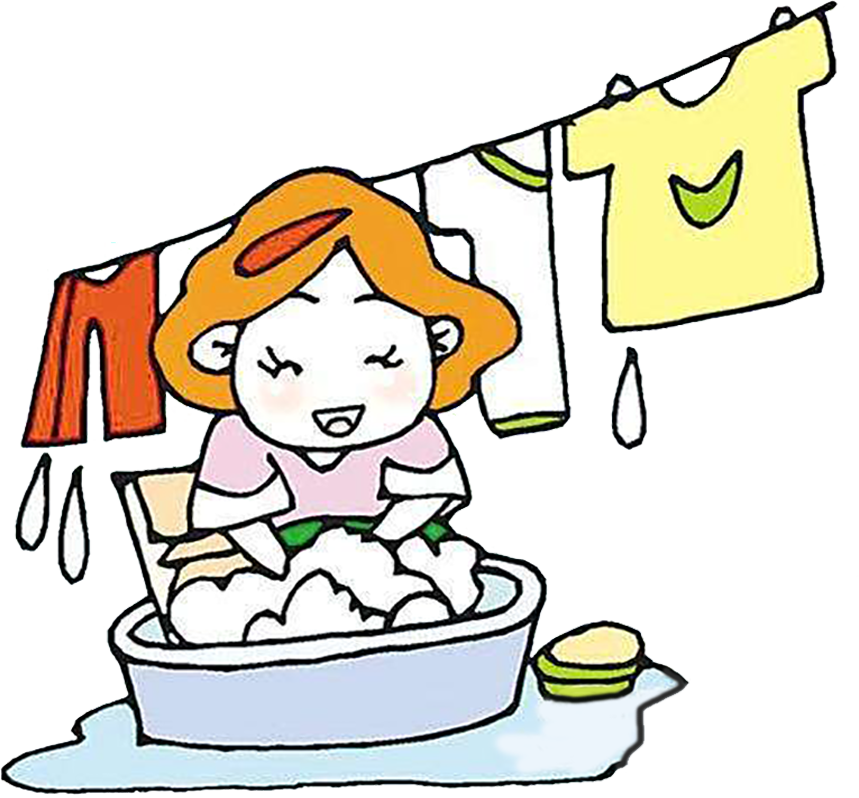 Clothing clipart mix match clothes. Cartoon washing laundry clip