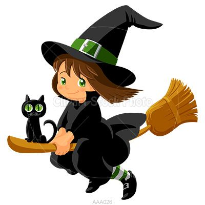 Witch clipart childrens. Halloween baby clip art