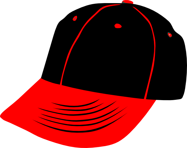Red black hat clip. Cap clipart summer