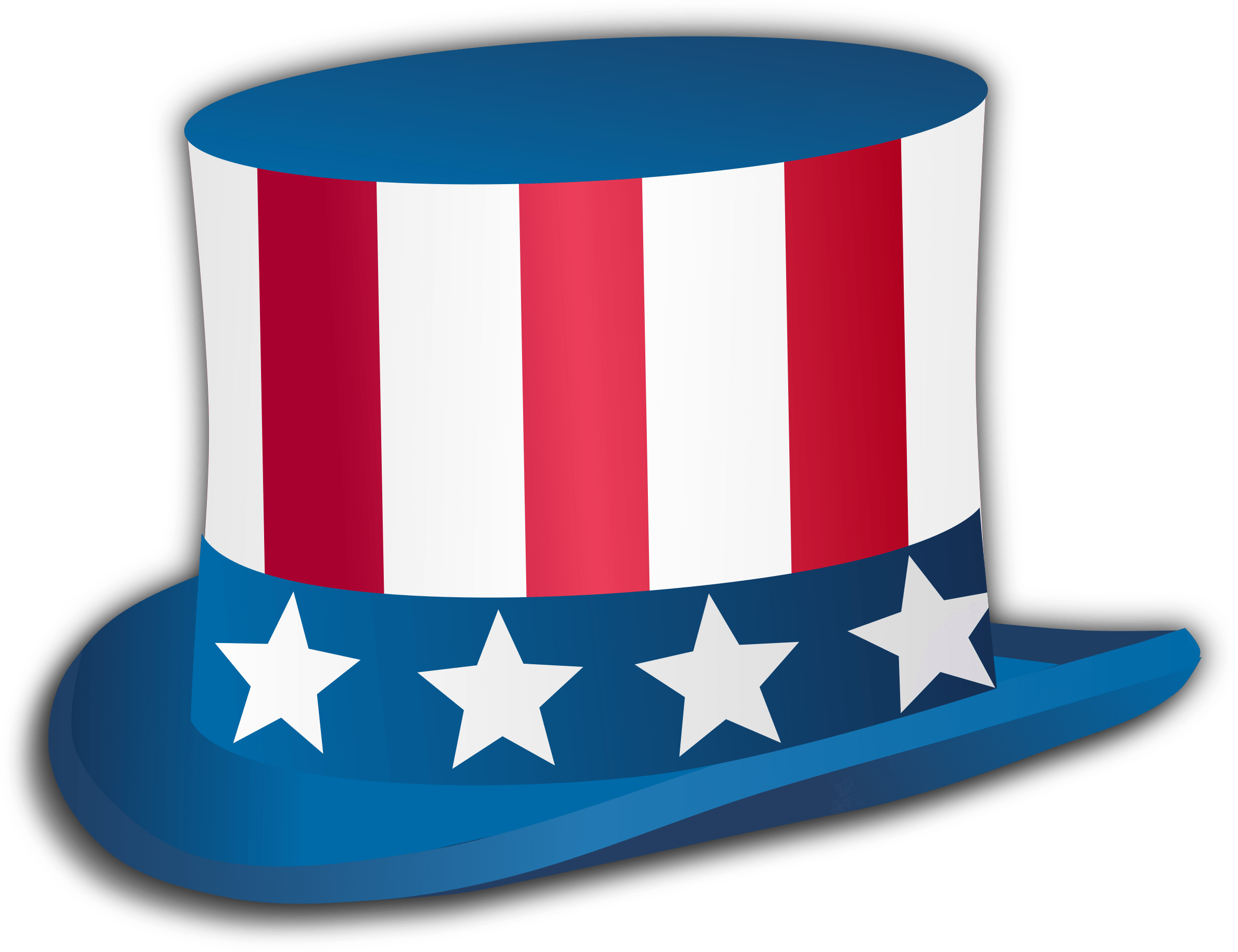Happy of top hat. Clipart rocket fourth july