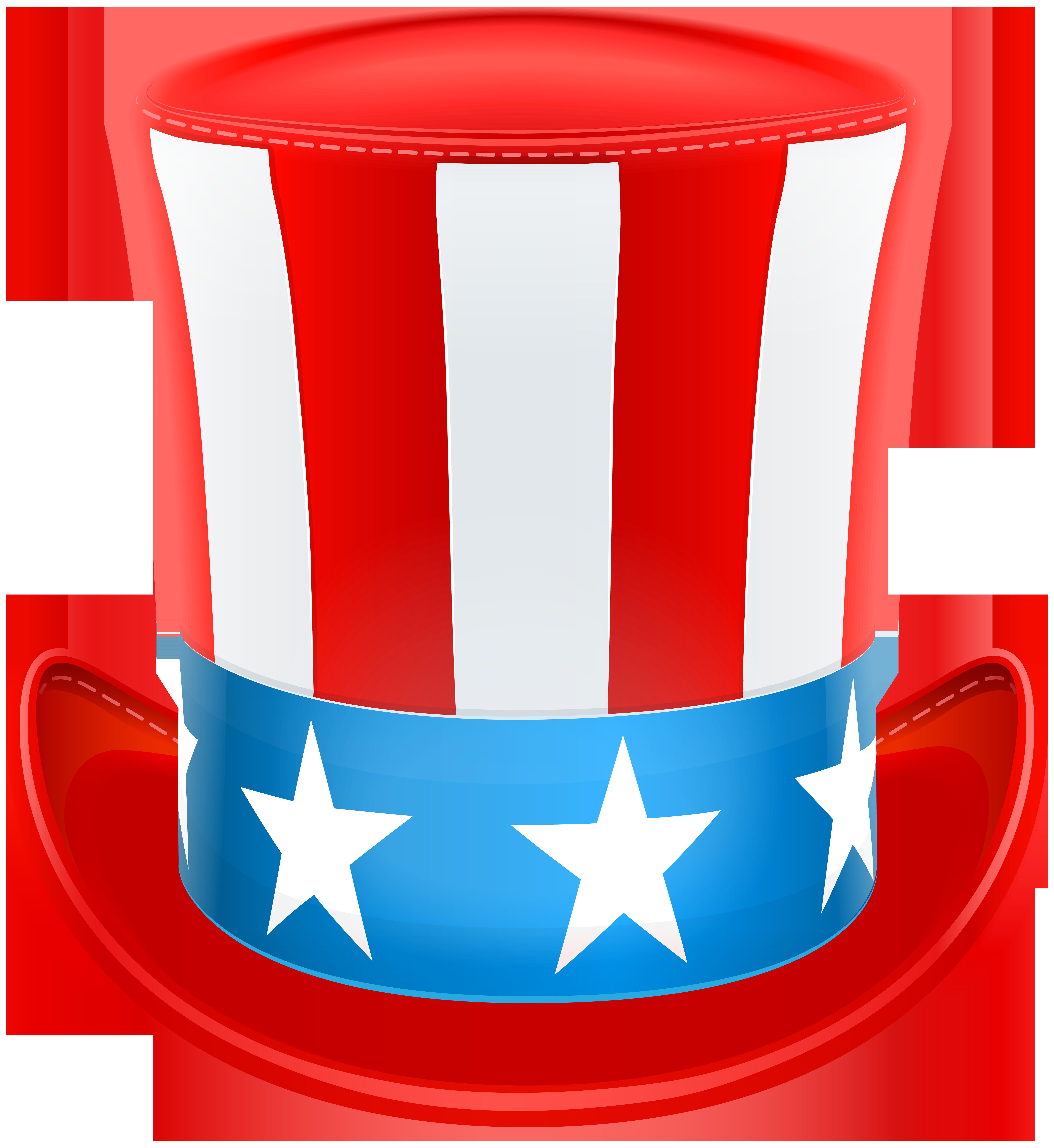 Patriotic clipart free clip art. Usa hat png image