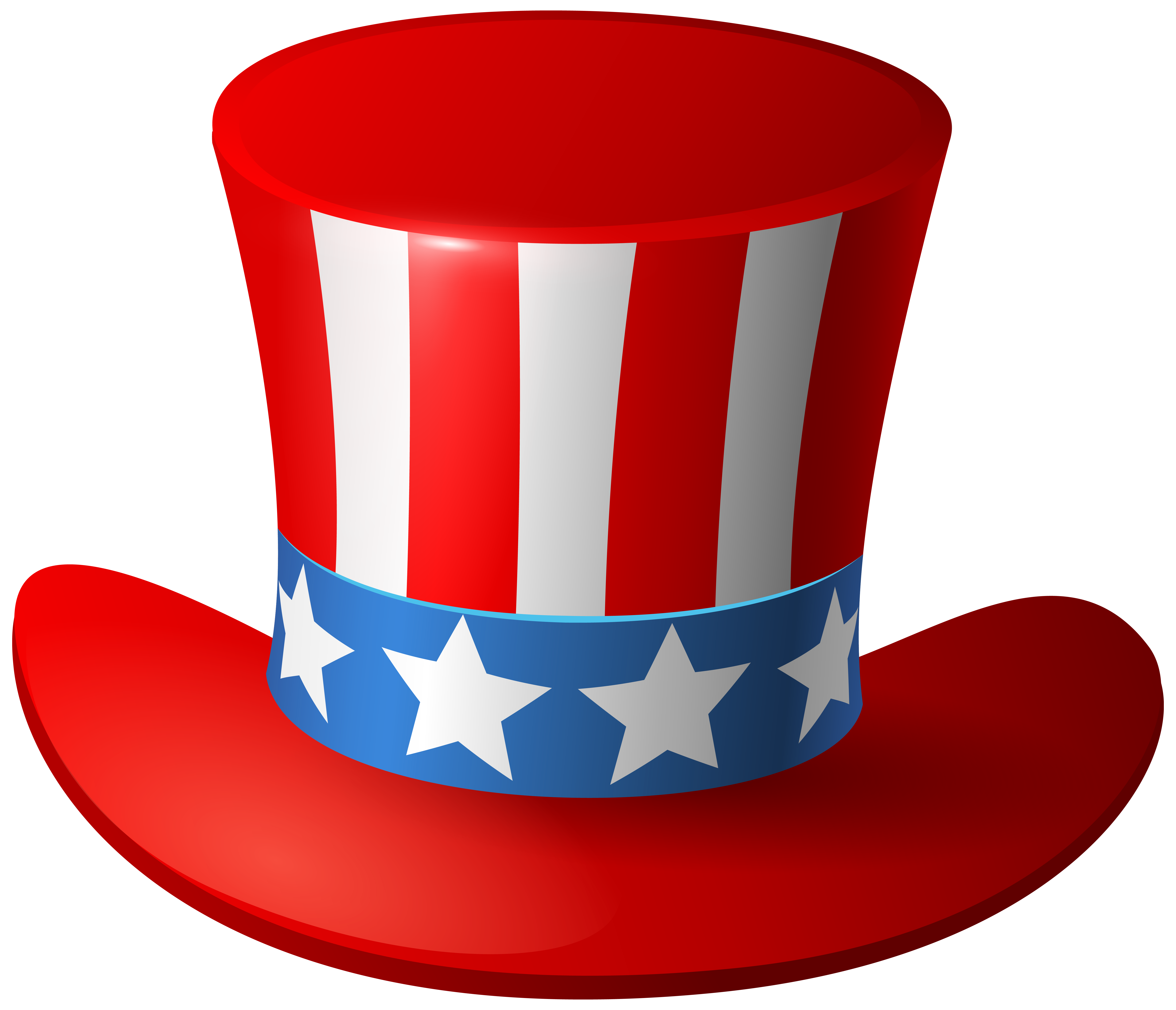 Uncle sam usa hat. Hats clipart 4th july