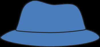Clip art images blue. Clipart hat