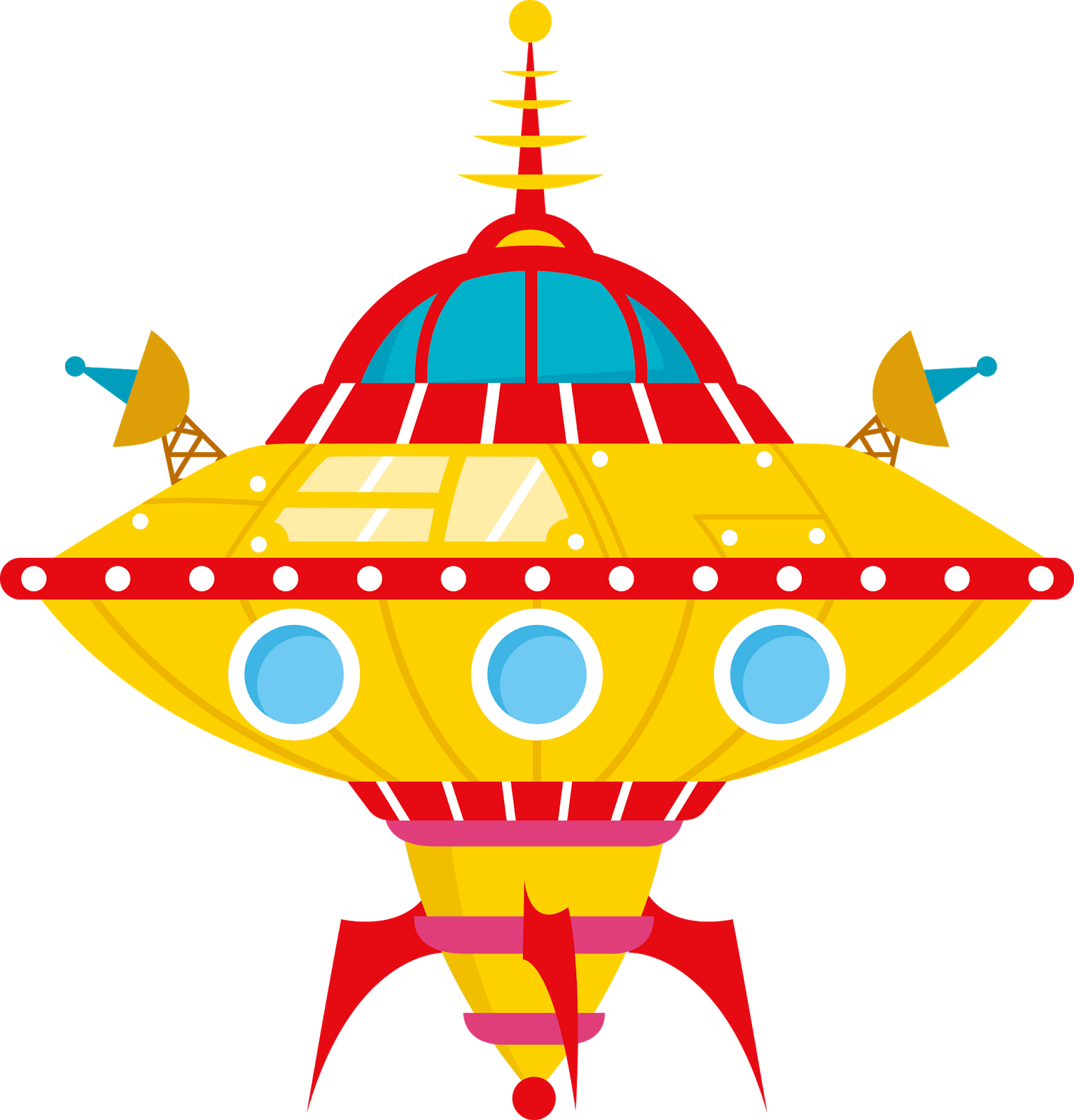 Aliens astronauts and spaceships. Spaceship clipart enemy