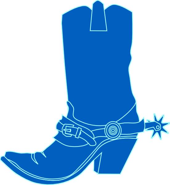 Cowbpy blue clip art. Hat clipart boot