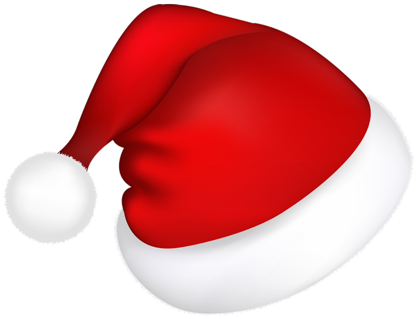 Large red picture gallery. Santa hat vector png