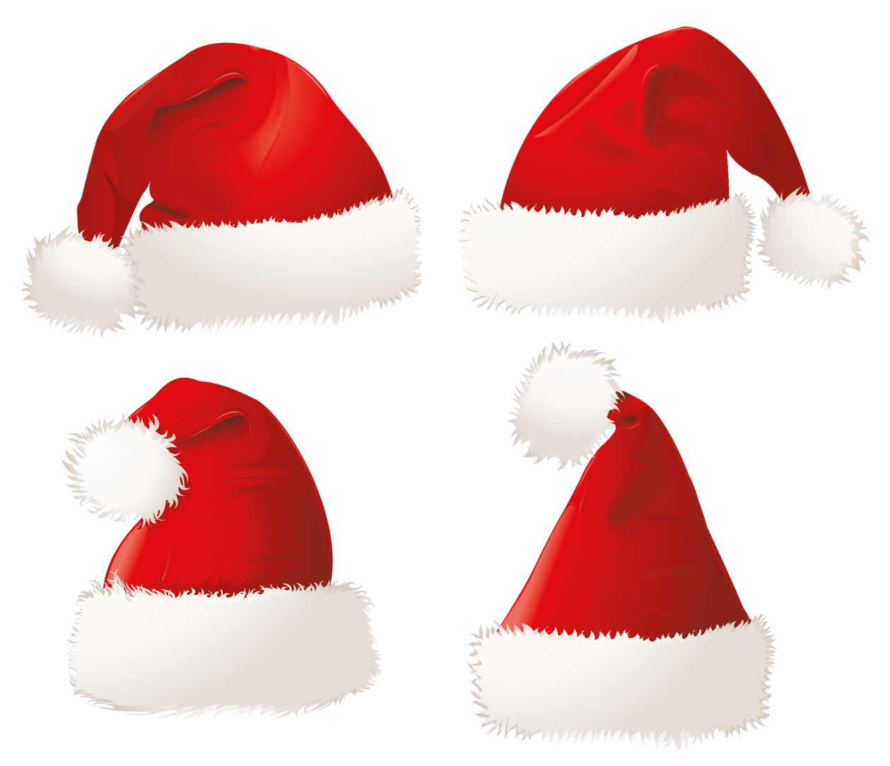 Hat clipart christmas. Santa hats png picture