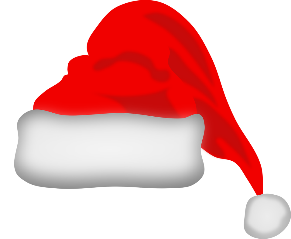 Christmas santa clip art. Worm clipart hat