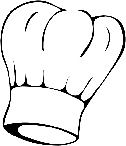 Chef clip art at. Clipart hat cooking