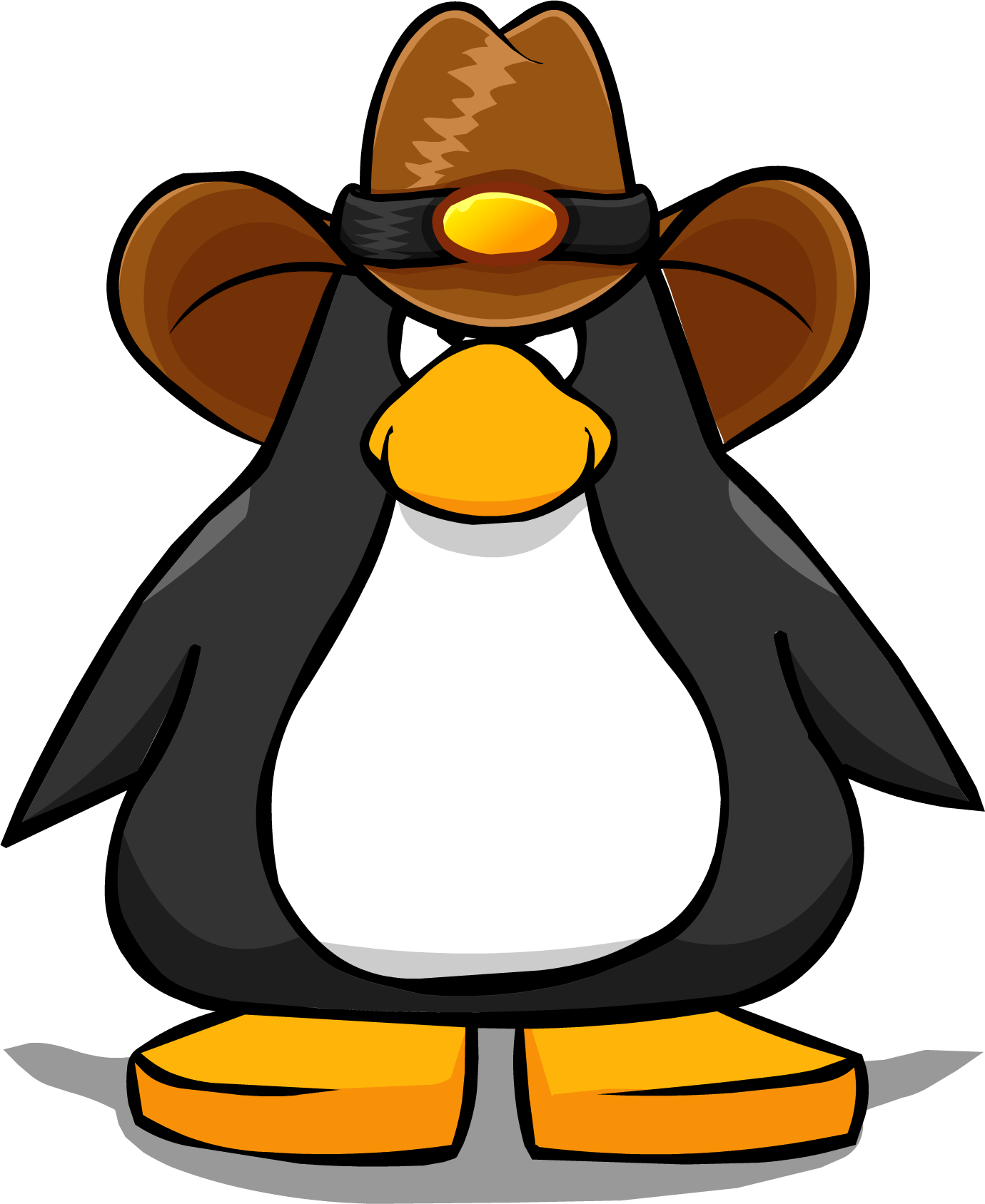 Clipart penguin brown. Image cowboy hat from