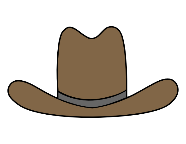 Hats clipart cow boy. Free cartoon cowboy download